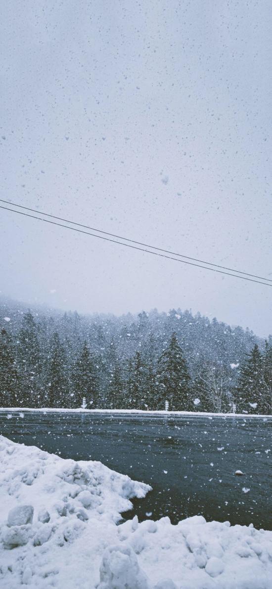 冬季 自然 雪景 白雪覆盖 唯美