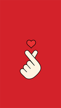 比心 手势 爱心 红色