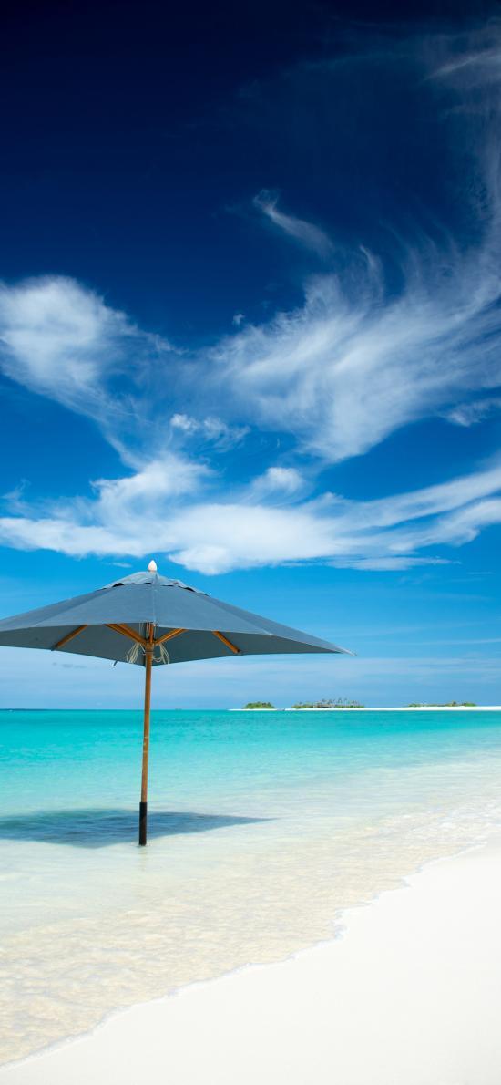 海滩 蓝天白云 沙滩 海岸