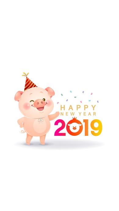 新年 猪年 2019 Happy new year