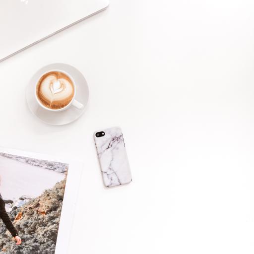 静物 手机 咖啡 拉花