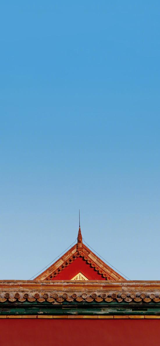 故宮 瓦片 建筑 屋頂 屋檐