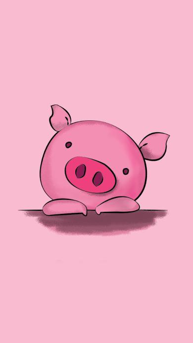 猪 粉色 猪头 客厅