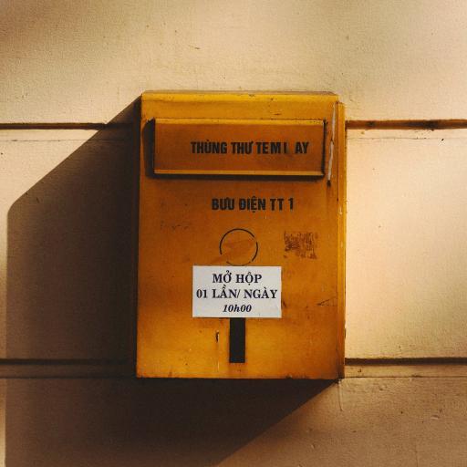 信箱 容器 黄色 铁皮