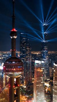 城市 建筑 夜景 上海 东方明珠