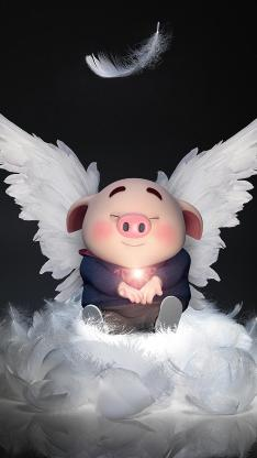 翅膀 甜食 猪小屁 羽毛