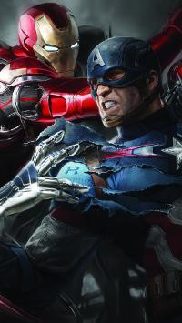 美国队长 钢铁侠 漫威 超级英雄