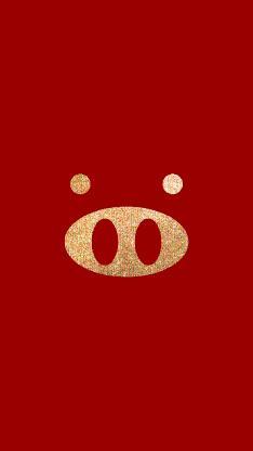 猪 鼻孔 红色 新年