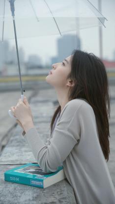 刘亦菲 演员 明星 艺人 伞 侧颜