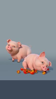 游戏 3D 猪猪 苹果 荒部西野