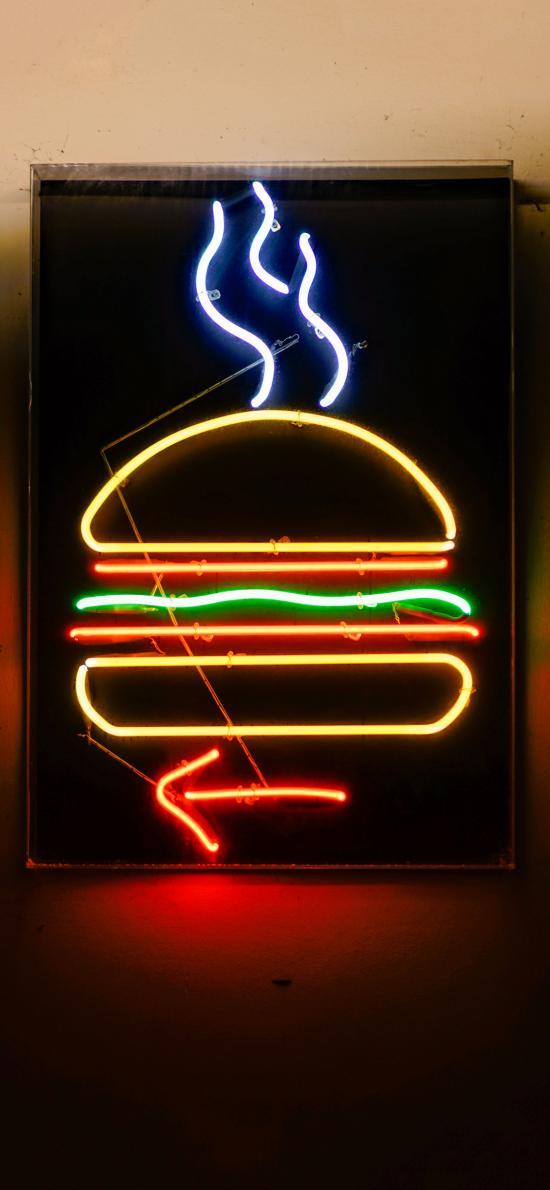 燈飾 創意 漢堡 照明 指示