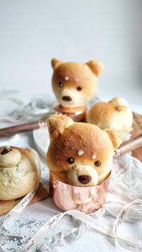 面包 可爱 糕点 狗狗