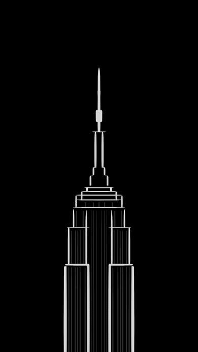 黑白 建筑 简约 线条