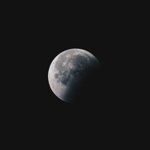 风景 月球 夜晚 星球
