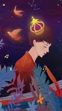 情侣 插画 男孩 皇冠