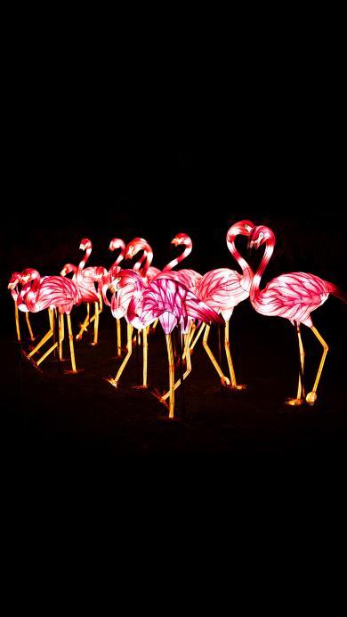 灯饰 火烈鸟 装饰 照明
