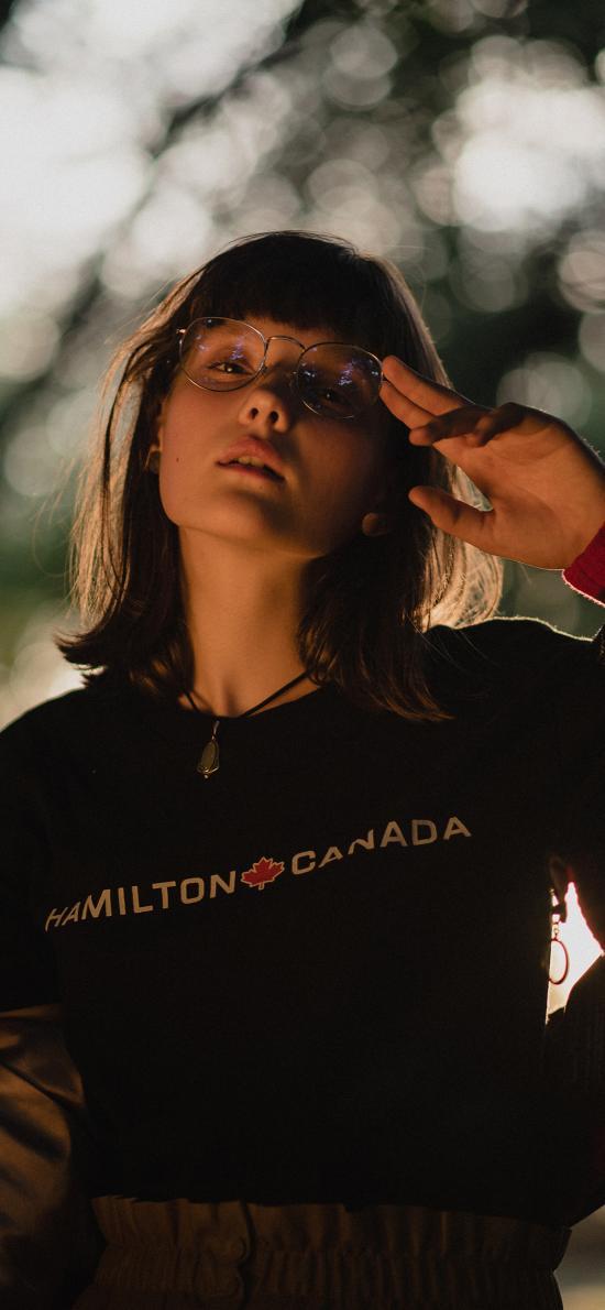 欧美美女 写真 眼镜 个性