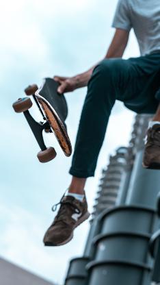 滑板 跳跃 运动 杂耍