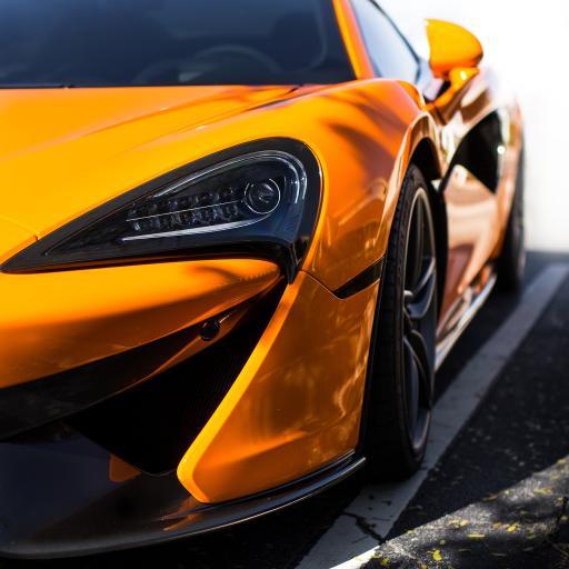 跑车 炫酷 炫彩 明黄