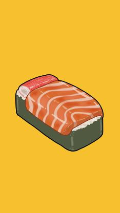 床 寿司 蟹柳 三文鱼 刺身
