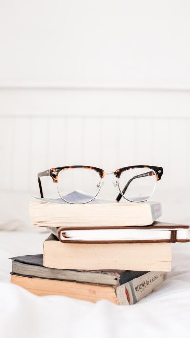 静物 眼镜 书籍 书本 堆积