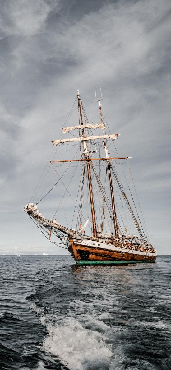 海面 海水 船只 帆船