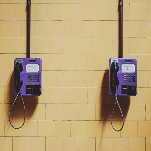 公用电话 通讯 紫色 插卡