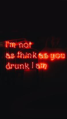 灯牌 drunk i am 喝醉