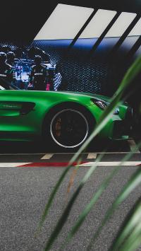 跑车 绿色 交通 炫酷