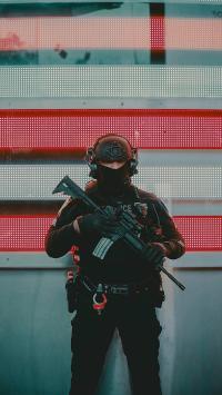 警察 欧美 枪支 武装