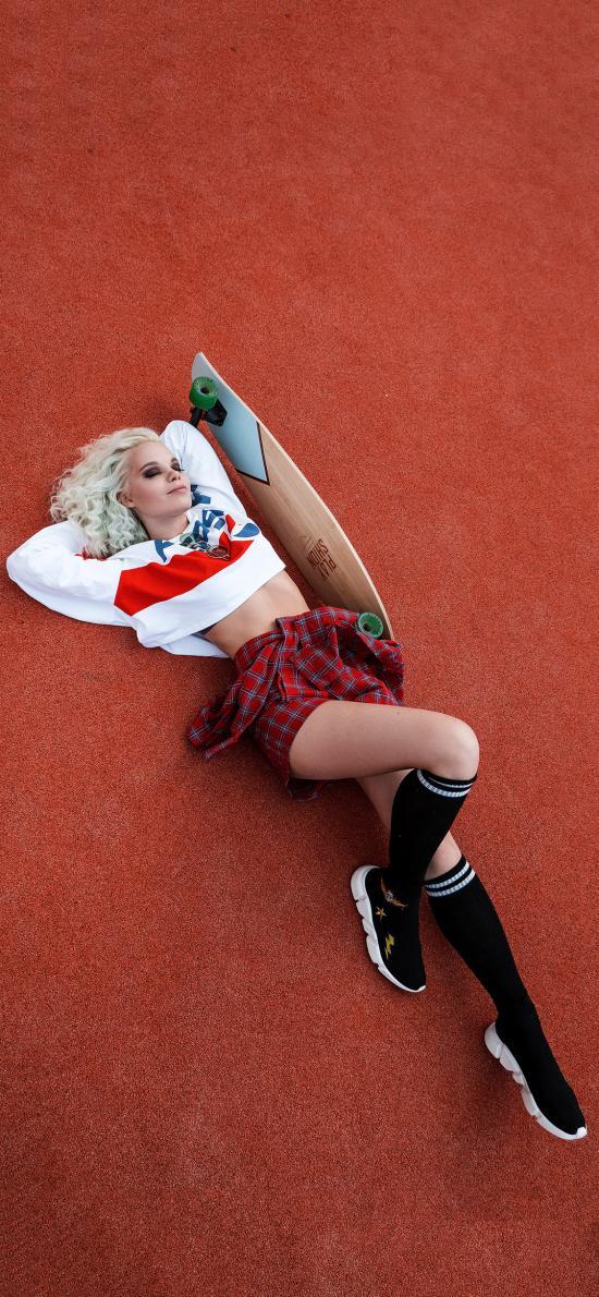 欧美美女 写真 滑板 性感