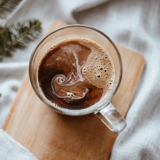 饮品 调制 咖啡 冰块