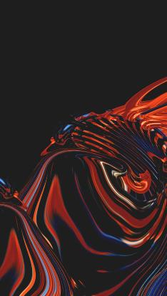 流动 线条 抽象 黑色