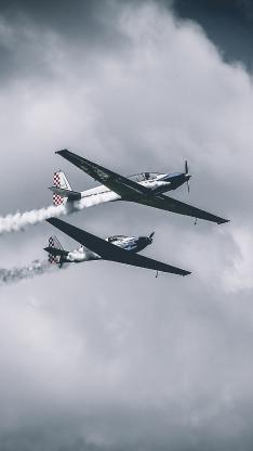 飞机 滑翔机 战斗机 喷气式 烟雾 航空