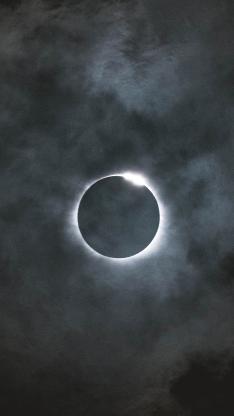月食 天文现象 夜空 圆