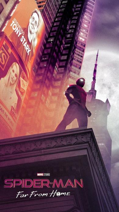 蜘蛛侠 英雄远征 电影 超级英雄 欧美 海报