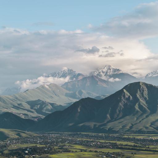 田野 雪山 山脉 平原 绿色