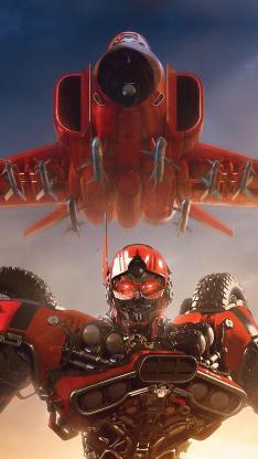 大黄蜂 机器人 飞机 电影 海报