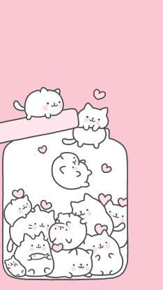 粉色背景 卡通 萌物 罐子