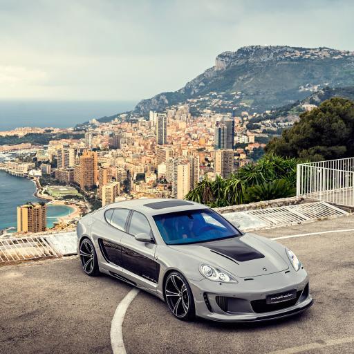 超级跑车 山顶 沿海 城市