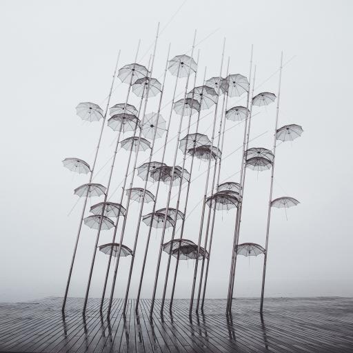 景点 装饰 雨伞 悬空 创意