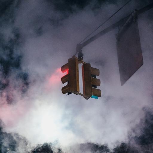 红绿灯 交通 指示 烟雾