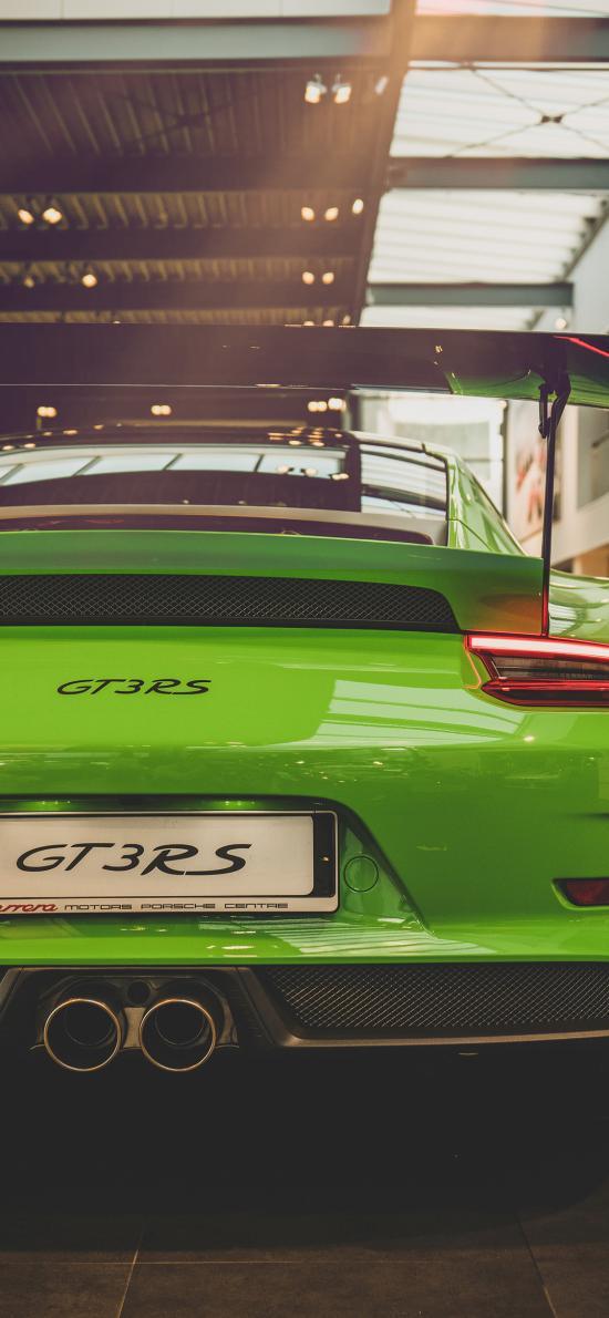 汽车 跑车 绿色 GT3RS
