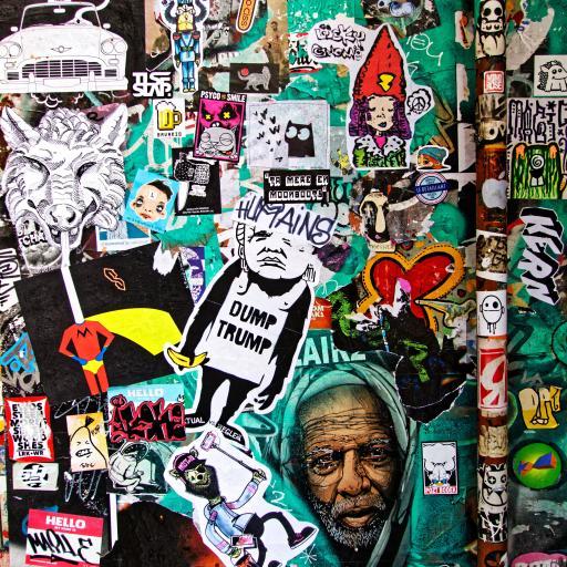 涂鸦 街头艺术 潮流 色彩