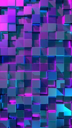 几何 立体 紫色 空间