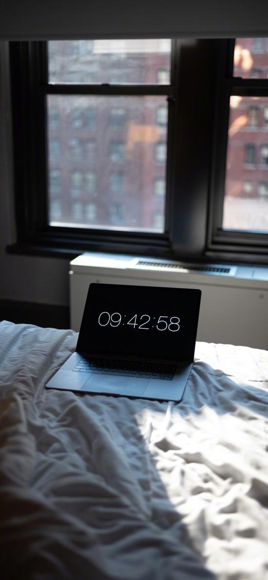笔记本 卧室 电脑 时间