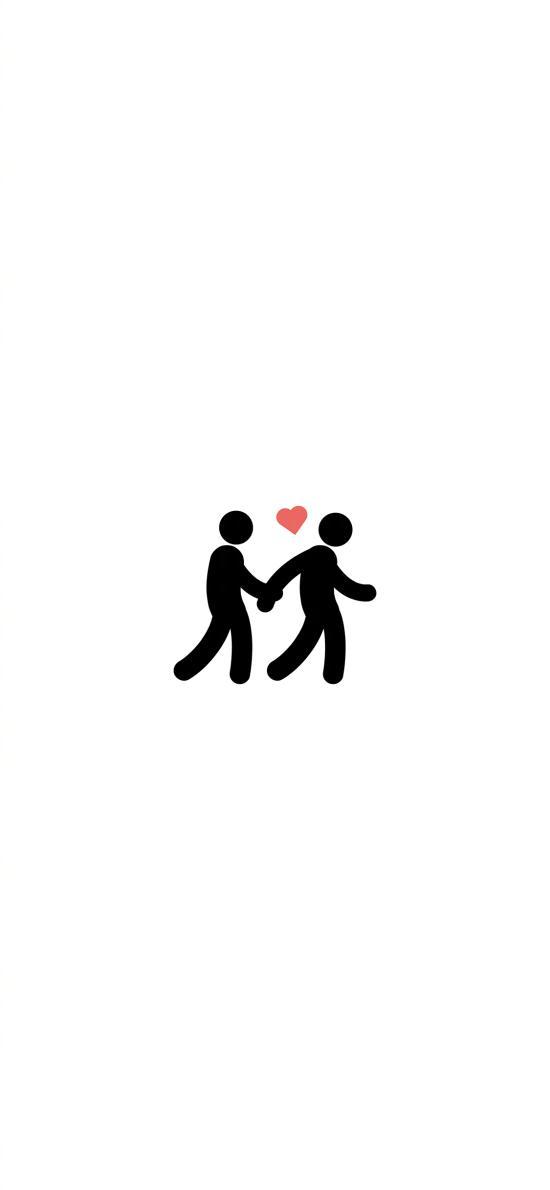 牵手 爱心 爱情 情侣 白色