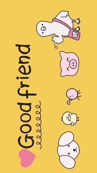 卡通 猪猪 小鸡 狗 good friend