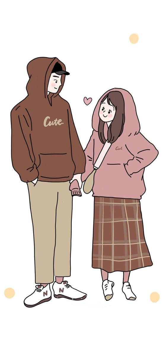 情侣 插画 牵手 爱情