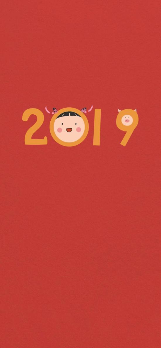 2019 女孩 新年 猪年